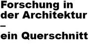 Forschen in der Architektur